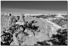 Colorado Rocky Mountain Scenic View in Black and White (Striking Photography by Bo Insogna) Tags: travel winter snow mountains tourism nature landscapes scenery colorado rocks seasons snowy scenic boulder boulders health rockymountains peaks bouldercounty jamesinsogna