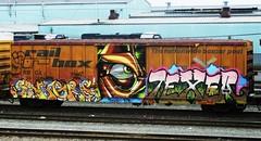 sangre - pawn - texer (timetomakethepasta) Tags: art train graffiti box rail boxcar alb freight sangre pawn texer