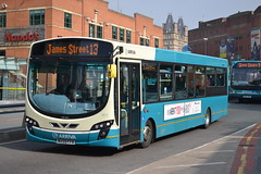 Arriva North West 3013 MX59FFR (Will Swain) Tags: city uk travel england west bus buses station liverpool march britain centre north transport seen 19th merseyside arriva 2015 3013 mx59ffr