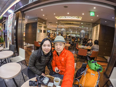 Kansai 2015 (kelvintkn) Tags: city travel people urban food colour japan photo cafe friend asia indoor wife osaka f28 lantauisland lightroom selfie 3mm gopro dfine2 sharpenerpro3 colourefexpro4 goprohero4silver