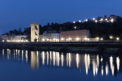 Arno River (emax411) Tags: italy lake night 35mm lights florence arno nikkor toscana dx nikkon