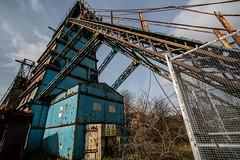 Platt Headgear (Advanced Biker) Tags: museum pit mining institute coal platt whitfield headgear ncb derilect chatterley