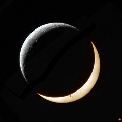 Lunasol (marc.stokes) Tags: sky sun moon night photoshop canon circle photography eos solar eclipse 10 space spot astro crescent full 300mm national montage astronomy phase apollo 90 lunar geographic