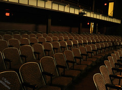 seats first floor (Photography by TW) Tags: camera old pink light red wallpaper orange brown white green mannequin window face yellow contrast vintage silver dark paper polaroid monkey amazing cool model shoes paint glow dress purple theatre unique awesome tan piano grand haunted stained spooky plastic chandelier dresses seats wig acting copper attic 135 exit swords props chorde nikond5000 lewistoncivictheatre