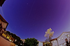 ISS Over Las Vegas (EL_KAB0NG) Tags: longexposure canon lasvegas nevada fisheye 8mm iss startrails clarkcounty rokinon canoneos50d spotthestation
