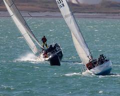 Yachts (Bernie Condon) Tags: sea water sport boat waves sailing wind yacht solent sail yachts southampton yachting