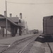 RR Bradner OH RPPC 1910 Village View of HOCKING VALLEY RAILROAD DEPOT & Yard & THE THOMPSON HOUSE HOTEL Wood County became a part of Chesapeake and Ohio Railway in 1910-