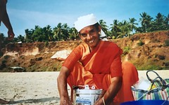 Chai on the beach (ldonna77) Tags: india beach kerala varkala chai