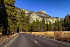 Road to Yosemite (Rafakoy) Tags: california road travel usa mountains tourism nature season landscape yosemite vacations 2013 canoneosm