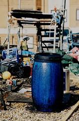 "Beach ""Bomb Site"" (35mm) (jcbkk1956) Tags: film beach analog 35mm kent fishing mess pentax barrel deal manual seafront tackle p30 agfa200"