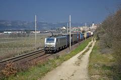 Southbound freight @ Gervans (Wesley van Drongelen) Tags: train zug rhne prima bb hermitage fret freight trein rhone gterzug tain intermodal conteneurs 27000 akiem bb27000 gervans goederentrein marchandises