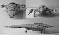 Naboo Rpyal Cruiser front/rear/side view (hachiroku24) Tags: star ship lego space wars phantom cruiser naboo menace moc afol