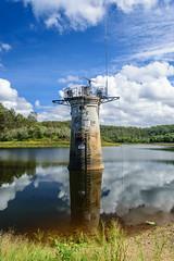 Intake Tower, Gold Creek Dam (stephenk1977) Tags: lake tower reflections nikon dam australia brisbane valve qld queensland draw outlet intake goldcreek d3300