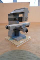 Horizontal milling machine (Elsie esq.) Tags: mill lego machine machinetool