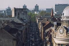 0335 Time Is Tickin' Away (Hrvoje Simich - gaZZda) Tags: street city cars clock buildings nikon croatia roofs zagreb rush nikkor283003556 nikond750 gazzda hrvojesimich