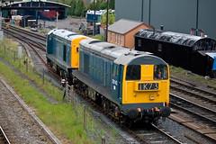20142 and 20205 @ Kidderminster 25.05.2016 (Wolfie2man) Tags: type1 severnvalleyrailway kidderminster 20205 20142 brblue class20