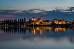 floating in a dream (degghi) Tags: longexposure sunset castle nikon medieval le mantova bluehour palazzoducale mantua d800 gonzaga mincio lagoinferiore
