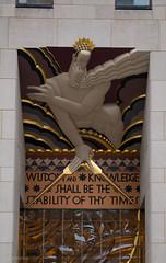 Rockefeller Center (Cthonus) Tags: geotagged rockefellercenter wisdom 1933 leelawrie gebuilding rcabuilding raymondhood comcastbuilding radiocorporationofamerica