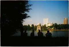 000057 (nhunhien) Tags: friends sunset summer lake sunshine hanoi h hoan kiem h ma hon nng kim hanoiwandering