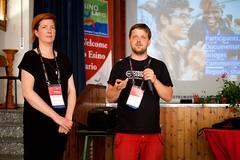 Nicole Ebber and Cornelius Kibelka at Wikimania 2016 Esino Lario (Sebastiaan ter Burg) Tags: italy mountain community village open free event knowledge wikipedia conference wikimania esinolario