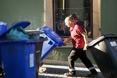 Sony Alpha A230 with Helios-44-2 - Garbage Man (Kojotisko) Tags: streetphotography brno creativecommons czechrepublic streetphoto czechia helios442 helios442258 legacylens legacylenses sonyalphaa230