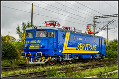 91-53-0-40-0882-3 (Zoly060-DA) Tags: blue light green yellow electric private grey sweden engine romania license co locomotive 40 5100 freight isolated operator kw cluj napoca craiova gfr repaired asea repainted electroputere 0882 servtrans