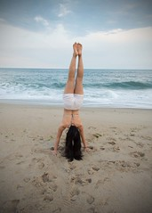 Happy International Handstand Day (lanalalapanda) Tags: ocean beach yoga clouds newjersey sand waves nj shore handstand pointpleasant internationalhandstandday