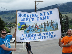 That's how to spend the summer! (jamica1) Tags: morning camp canada star bc okanagan banner may columbia days parade bible british kelowna rutland