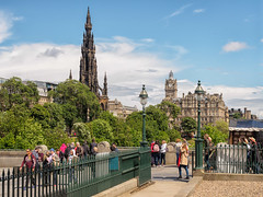 Looking east from the Scottish National Gallery (Graeme Pow) Tags: city clock station hotel scotland edinburgh gothic victorian princesstreetgardens scottish fast nb galleries balmoral scottmonument scottishnationalgallery nationalgalleriesofscotland northbritish scottishnationalgalleries