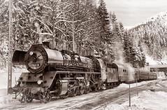 Dampflok (Schneeglöckchen-Photographie) Tags: winter eisenbahn railway locomotive dampflok lokomotive