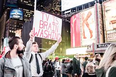 TV is Brain Washing (fwjs) Tags: street new york city nyc newyorkcity photojournalism adventure timessquare