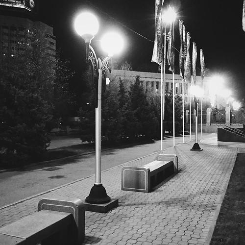 Ночная прогулка по #Almaty #vscocam #night #city
