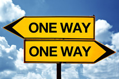 One way travel insurance (Gulliver Globelink) Tags: sign different opposite guidance object streetsign selection direction signage directions roadsign oneway signpost choice information confusion contrary decision option dilemma oppositesigns