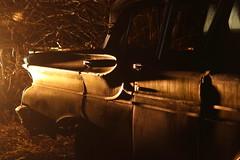at night in the junkyard 1 (hkanins) Tags: auto old light car night lights licht junk nacht alt rusty oldschool american oldtimer junkyard rost rostig lichter schrott schrottplatz