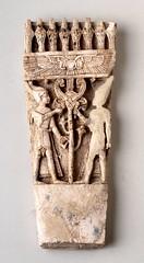 Nimrud ivory pharaohs furniture inlay - 858-681 BC (BoltonLMS) Tags: archaeology museum ancient bolton pharaoh nimrud uraeus neoassyrian calah kalkhu ancientiraq fortshalmaneser uraei boltonmuseum