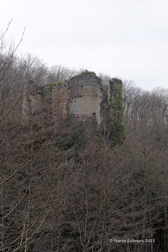 03 St-Eloi-d'Allier - La Roche Ruines château  XII XIII XV