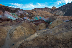 Artist's Palette, Death Valley NP (julesnene) Tags: california ca travel nature colors landscape nationalpark colorful artist unitedstates desert minerals area destination deathvalley geology blackmountains artistspalette rockformation furnacecreek deathvalleynationalpark artistsdrive artistdrive scenicloop visualfeast julesnene canonef35mmf14lusmlens juliasumangil canon7dmarkii canon7dmark2