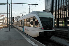 Thurbo => Die Regionalbahn ( SBB )  GTW RABe 2/8 526 768 AKL noch ohne Taufname ( Gelenk - Triebwagen - Nahverkehrszug dreiteilig => Inbteriebnahme 2006 => Hersteller Stadler Rail )  am Bahnhof St. Gallen im Kanton St. Gallen in der Schweiz (chrchr_75) Tags: chriguhurnibluemailch christoph hurni schweiz suisse switzerland svizzera suissa swiss chrchr chrchr75 chrigu chriughurni märz 2015 chriguhurni albumbahnenderschweiz albumbahnenderschweiz201516 schweizer bahnen eisenbahn bahn train treno zug albumzzz201503märz albumbahnthurbo thurbo regionalbahn tralin juna zoug trainen tog tren поезд lokomotive паровоз locomotora lok lokomotiv locomotief locomotiva locomotive railway rautatie chemin de fer ferrovia 鉄道 spoorweg железнодорожный centralstation ferroviaria