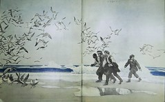 """Endpapers: """"The Mysterious Island"""" by Jules Verne. NY: Charles Scribner's Sons, 1927. Pictures by N. C. Wyeth (lhboudreau) Tags: ocean seagulls illustration book artwork surf drawing illustrations drawings books wyeth julesverne bookart hardcover 1927 verne firstedition colorart vintagebook ncwyeth endpapers mysteriousisland scribners hardcovers classicfiction hardcoverbooks themysteriousisland hardcoverbook charlesscribnerssons classicstory charlesscribners classictale decorativeendpapers colorendpapers"""