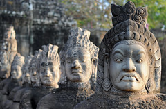 Asura Statues, Angkor Thom (Oliver J Davis Photography (ollygringo)) Tags: world old travel sculpture heritage history archaeology monument statue stone temple 50mm ancienthistory ancient ruins cambodia southeastasia khmer dof faces unescoworldheritagesite unesco worldheritagesite civilization siemreap angkor hindu hinduism ancientcivilization archeology civilisation worldheritage angkorthom selectivefocus ancientcivilisation churningoftheseaofmilk churningoftheoceanofmilk samudramanthan churningocean oliverdavisphotography oliverjdavisphotography