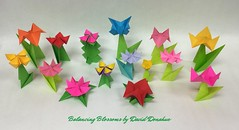 Balancing  Blossoms / Spring Has Sprung (OrigamiVisionz) Tags: flowers two floral spring origami salt catcher piece cellar cootie