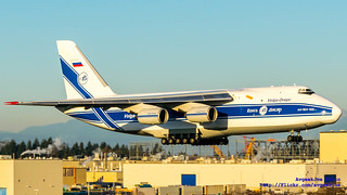 An-124-100 Safely on Final to Paine Field