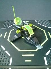Neo Blacktron III Builds and MOCs (Xand0r) Tags: black green nova neon fighter ship lego space iii walker neo trans tron villain racer halftrack crawler submersible rench blacktron