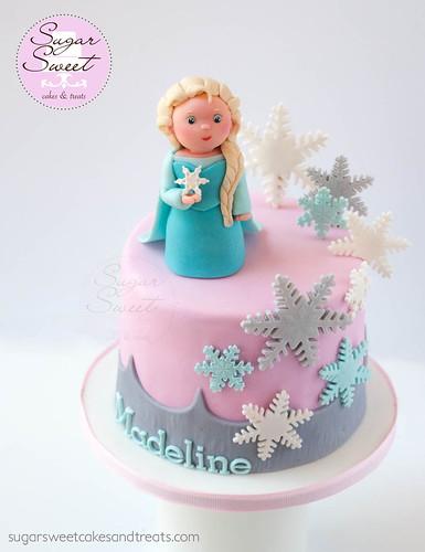 Elsa Snowflake Mini Cake