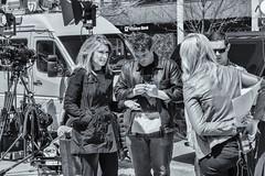 CNN At Work (melmark44) Tags: blackandwhite bw news boston marathon reporter streetphotography makeup cnn nik behindthescenes bombing bts copleysquare 2013 poppyharlow silverefexpro2 carolcostello bostonstrong 2013bostonmarathonbombing