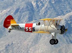 N63555 Triple Nickel (John W Olafson) Tags: boeing warbird biplane stearman palmspringsairmuseum triplenickel kaydet n2s3 kpsp n65333