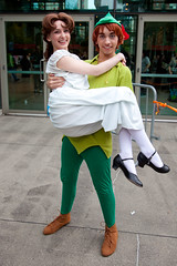 Emerald City Comicon 2015 Cosplay - Wendy and Peter from Peter Pan (camknows) Tags: seattle cosplay peterpan wendy freewaypark emeraldcitycomicon eccc washingtonstateconventioncenter