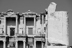 Ancient Writing (_Codename_) Tags: writing turkey blackwhite library columns carving ephesus libraryofcelsus