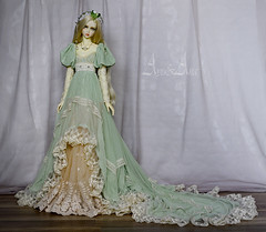 Green Apple (AyuAna) Tags: set proud ball design clothing doll dress 1st body handmade ooak victorian style clothes historical bjd dollfie hybrid edwardian eris jointed whiteskin spiritdoll ordoll nyxdoll ayuana proud1st
