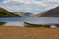 Your boat awaits (Frank Fullard) Tags: blue mountain lake galway beach sand scenery lough scenic connemara mayo trout angling ferox loughnafooey fullard nafooey feroxtrout frankfullard